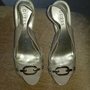 Guess Patent Leather Slingbacks